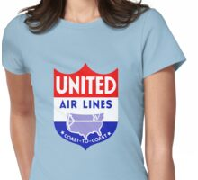 United Luggage Tag Womens Fitted T-Shirt