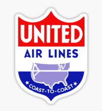 United Luggage Tag Sticker