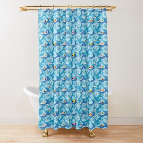 New Year's Swim Shower Curtain