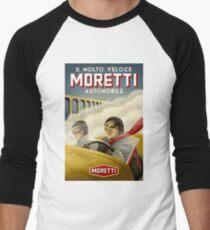"""MORETTI AUTO RACES"" Vintage Grand Prix Print Men's Baseball ¾ T-Shirt"