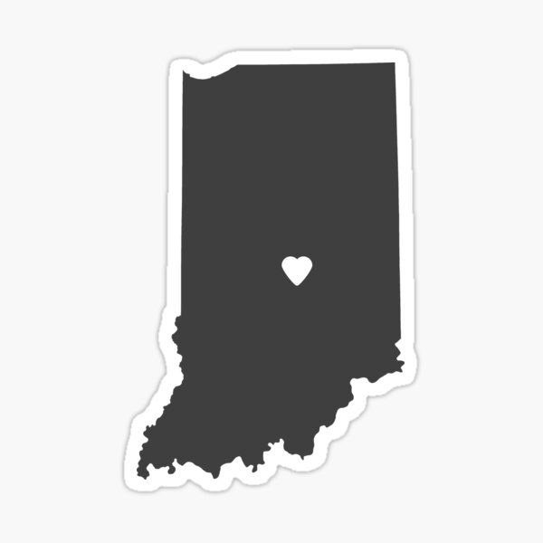 Indiana Charcoal Sticker