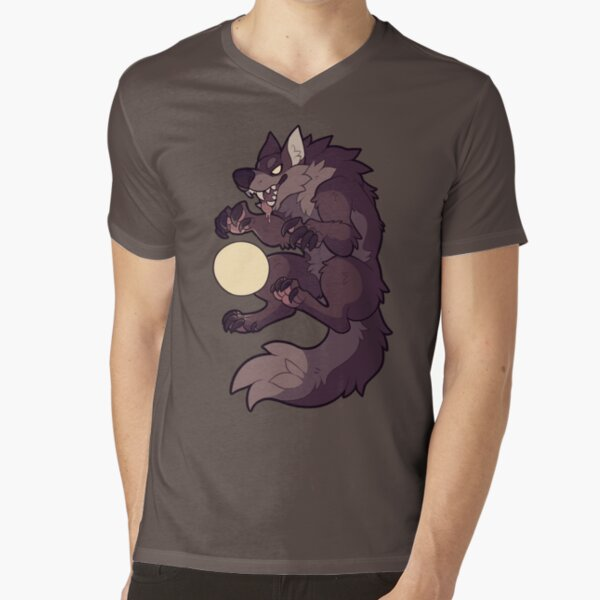 Claw at the Moon V-Neck T-Shirt