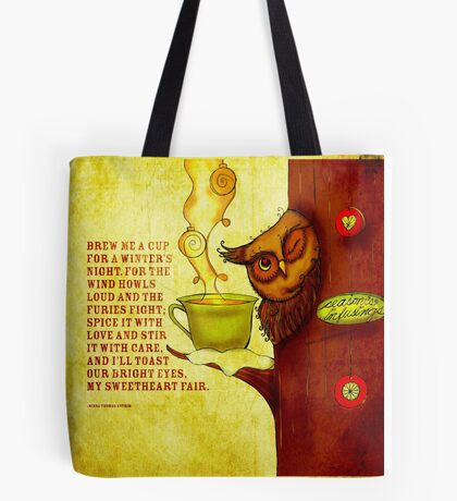 What my #Tea says to me - December 13, 2013 Pillow Tote Bag