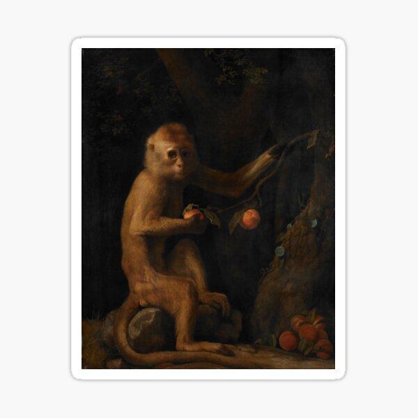 George Stubbs A Monkey  Sticker