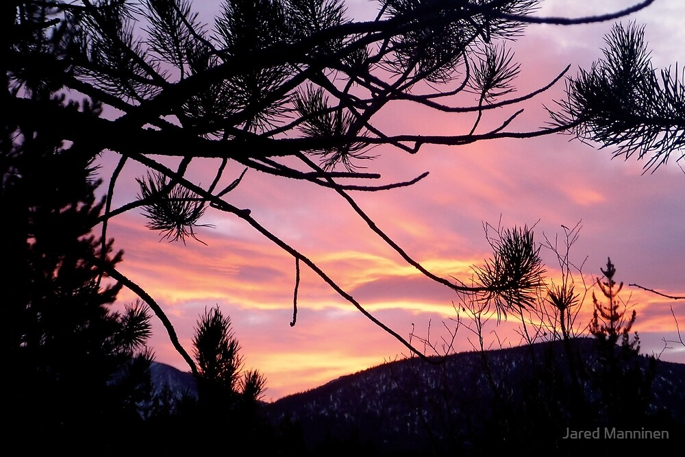 Sunrise Emerging Over the Sierra Nevada Mountains by Jared Manninen