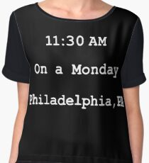 On a monday. Philadelphia,PA Chiffon Top