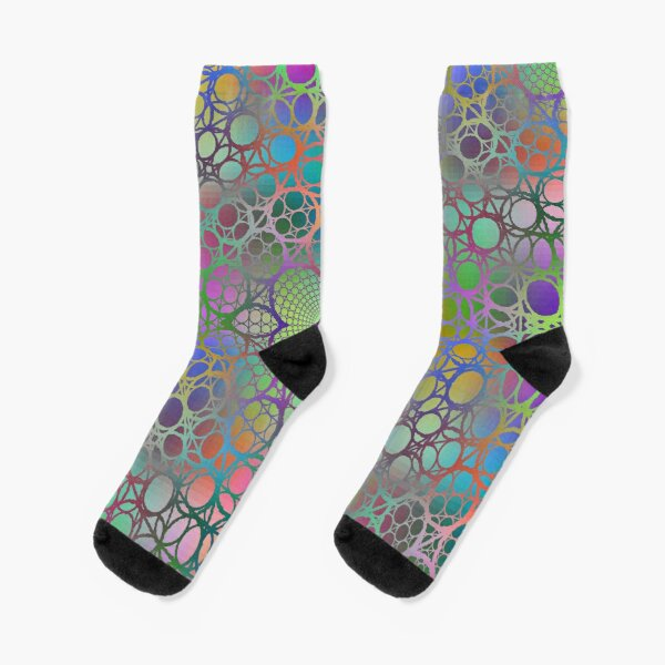 Visual arts, Optical illusion, Concentric Circles, Geometric Art, - концентрические круги Socks