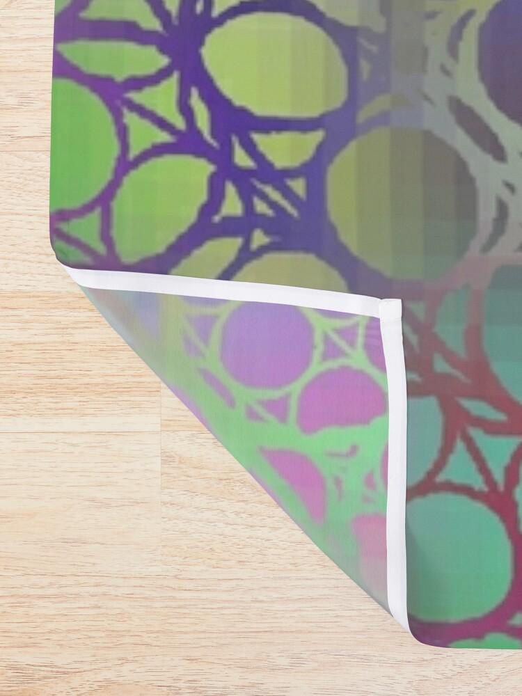 Alternate view of Visual arts, Optical illusion, Concentric Circles, Geometric Art, - концентрические круги Shower Curtain