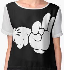 Funny Fingers. Chiffon Top
