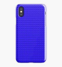 Building Block Brick Texture - Blue iPhone Case/Skin