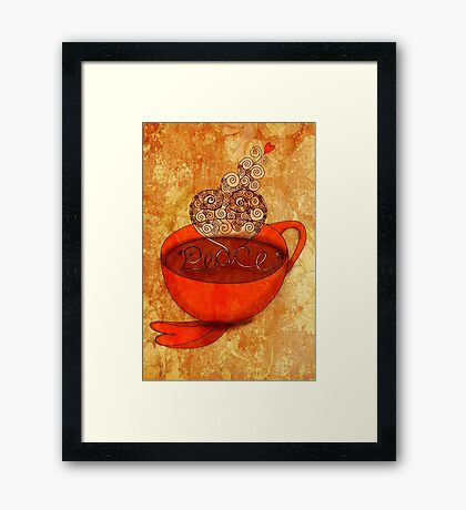 What my Coffee says to me -  December 16, 2012 Framed Print
