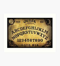 OUIJA Game Board Art Print