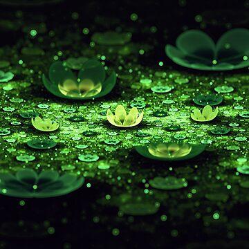 Lilies II - Floral Field Fractal by SniperFox
