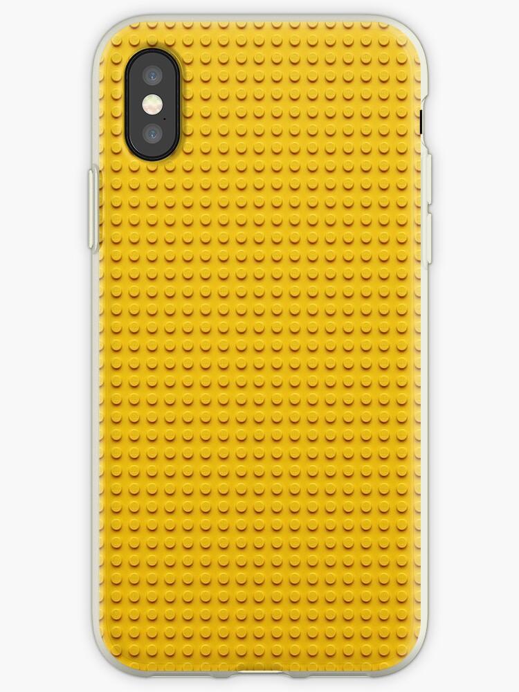 Building Block Brick Texture - Yellow by graphix