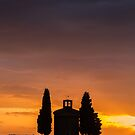 Madonna di Vitaleta Chapel silhouette by Vicki Moritz