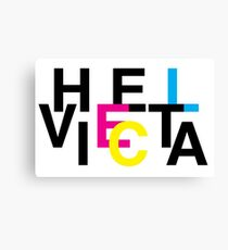 Helvetica & CMYK Canvas Print