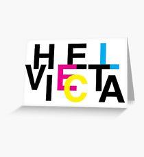 Helvetica & CMYK Greeting Card