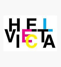 Helvetica & CMYK Photographic Print