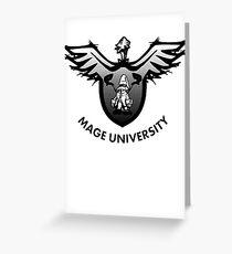 Mage University Greeting Card