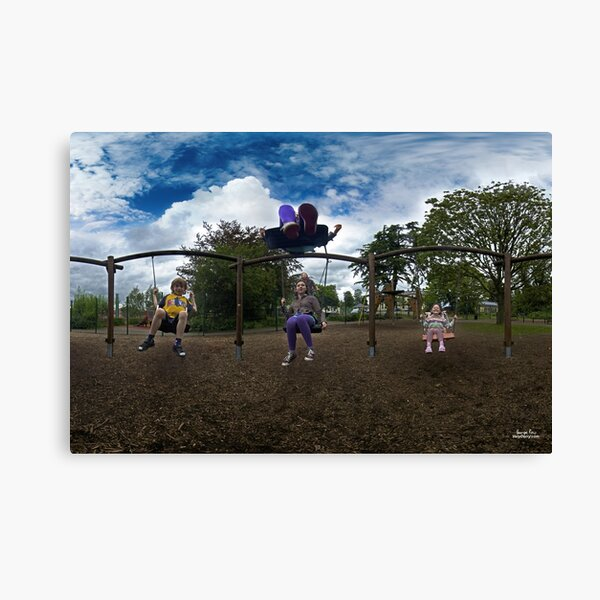 3  Kids on a Swing Canvas Print