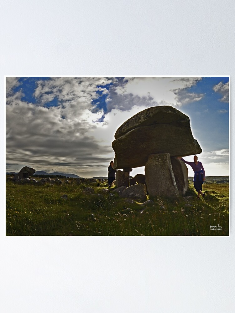 Alternate view of Kilclooney Dolmen, County Donegal Poster