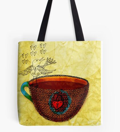 What my Coffee says to me -  October 3, 2012 Tote Bag