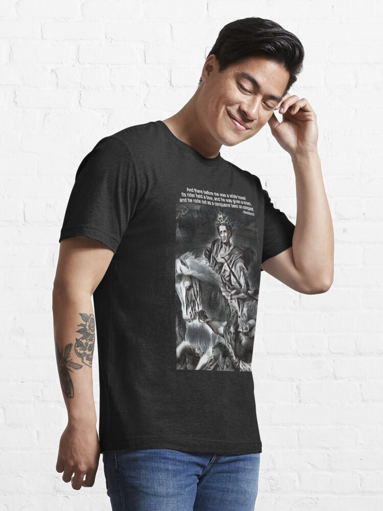 Alternate view of White Horse of the Apocalypse Essential T-Shirt