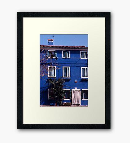 Burano Blues Framed Print