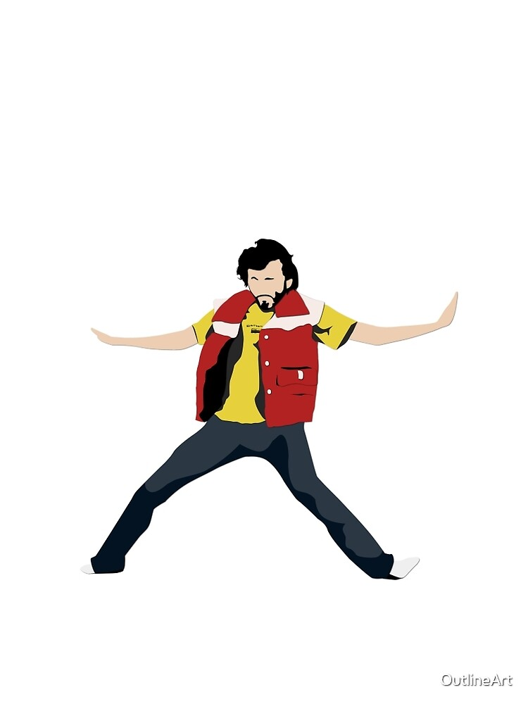 Flight of the Conchords - Bret's Angry Dance by OutlineArt