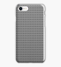 Building Block Brick Texture - Gray iPhone Case/Skin