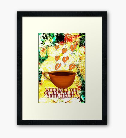 What my Coffee says to me -  November 26, 2012 Framed Print