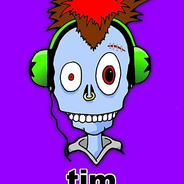 Tim...the misunderstood zombie (variation blue) by tribal191983