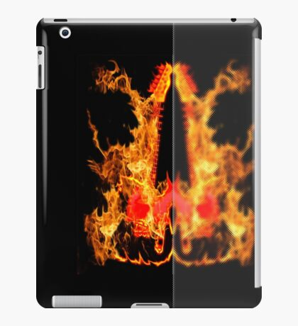 guitar fire iPad Case/Skin