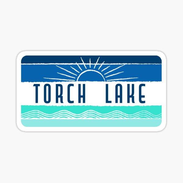 Retro Rectangular Torch Lake Sticker