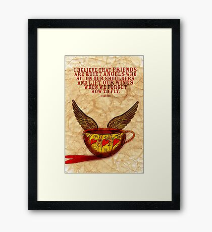 What my Coffee says to me - September 15, 2012 Framed Print