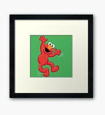 Elmo Happy Framed Print