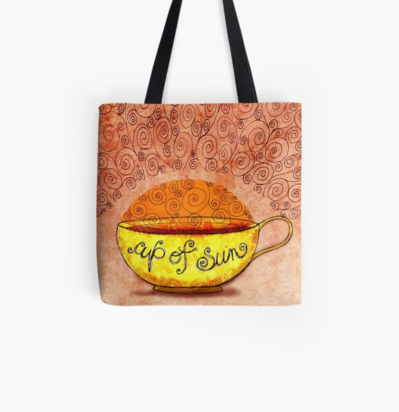 What my #Coffee says to me January 4, 2013 All Over Print Tote Bag