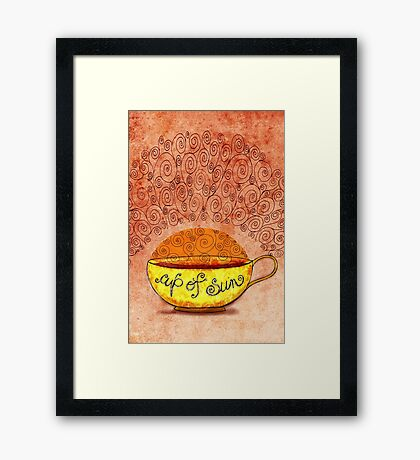 What my #Coffee says to me January 4, 2013 Framed Print