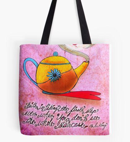 What my #Tea says to me June 23 Tote Bag