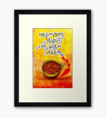 What my #Coffee says to me September 29, 2013 Framed Print