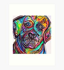 Lovable LAB Art Print