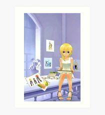 Namine Kingdom Hearts Art Print