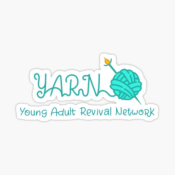 YARN ball with one needle Sticker