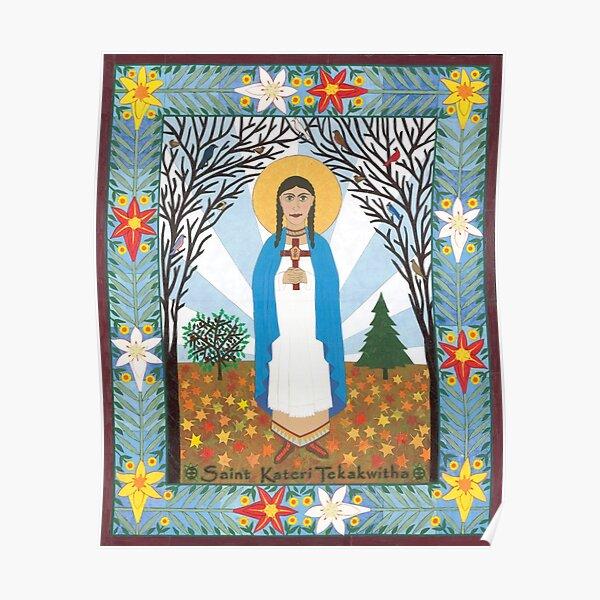 St. Kateri Tekakwitha Icon Poster