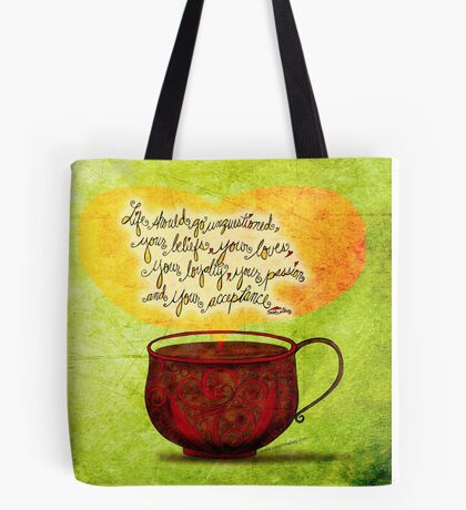 What my #Coffee says to me - Feb 24, 2014  Tote Bag