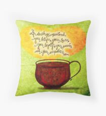 What my #Coffee says to me - Feb 24, 2014  Throw Pillow
