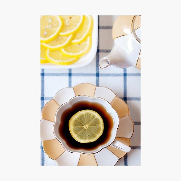 Tea and Lemon Photographic Print