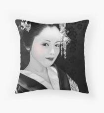 Blossom Geisha  Throw Pillow