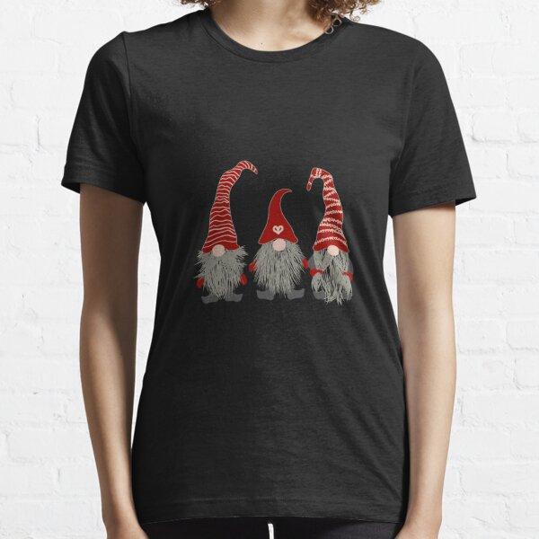 3 Nordic Gnomes Swedish Nisse Tomte Christmas Pajama Gift Long Sleeve T-Shirt Essential T-Shirt