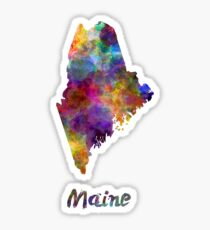 Maine US state in watercolor Sticker